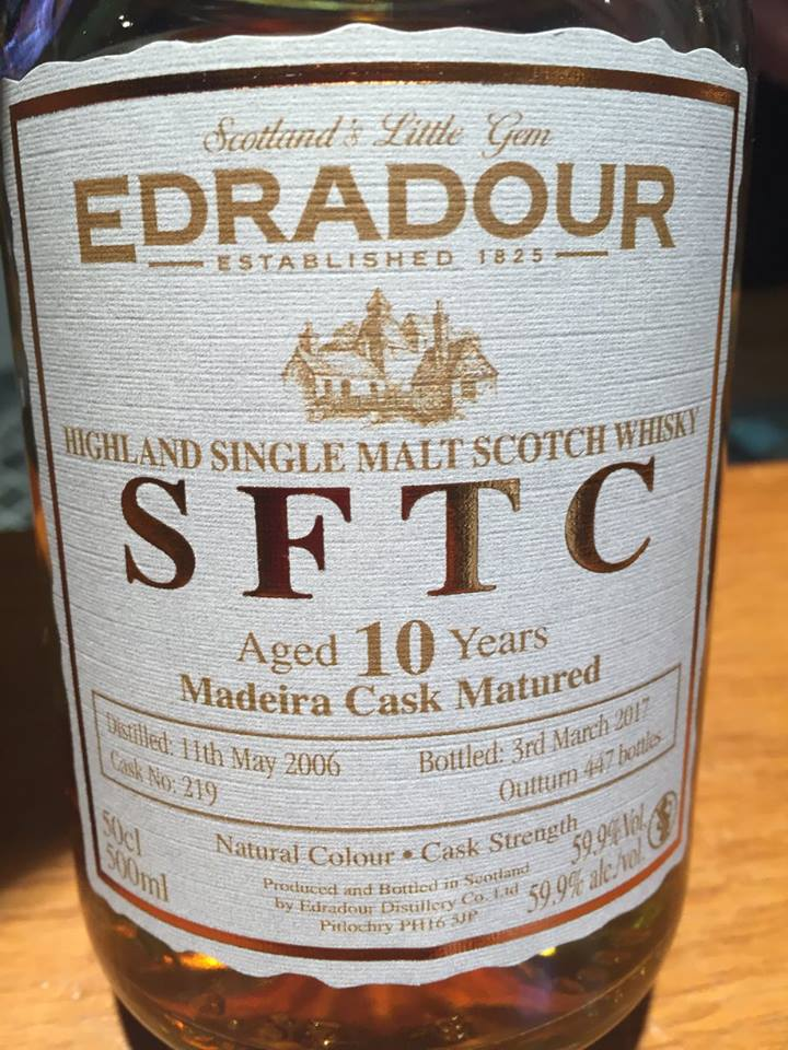Edradour – 10 Years Aged – Madeira Cask Matured – Highland, Single Malt – Scotch Whisky
