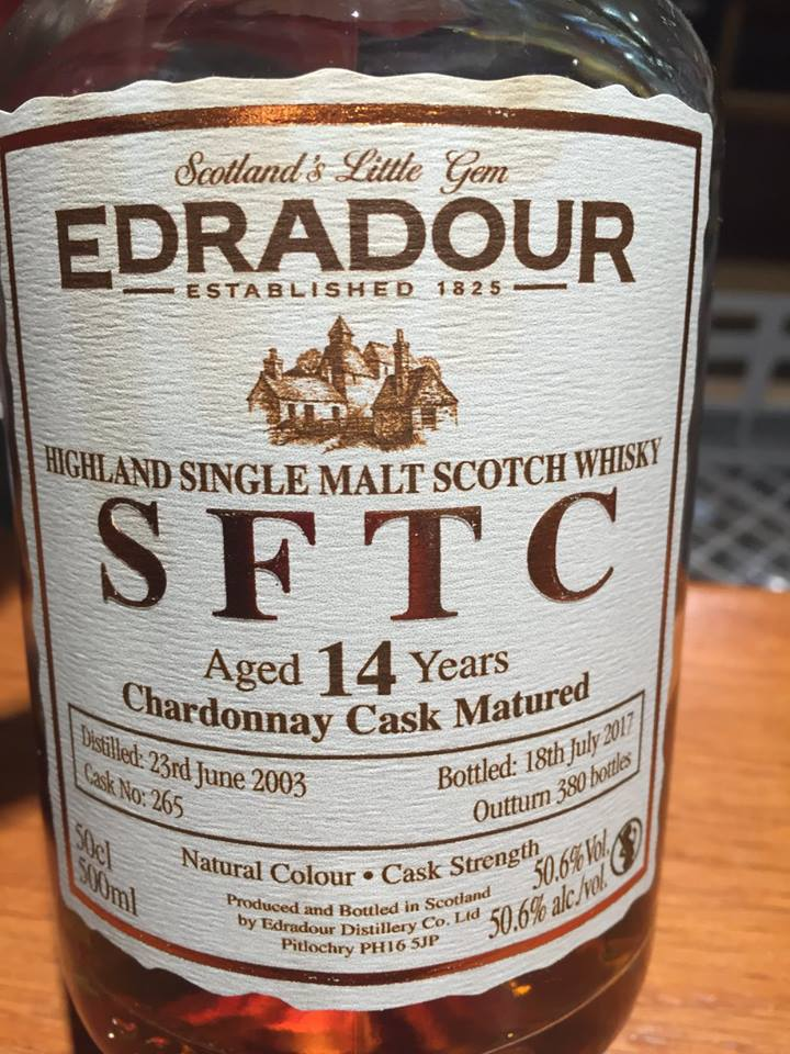 Edradour – 14 Years Old – Chardonnay Cask Matured– Highland, Single Malt – Scotch Whisky