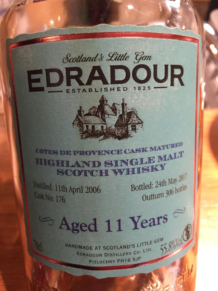 Edradour – Aged 11 Years – Côtes de Provence Cask Matured – Highland, Single Malt – Scotch Whisky