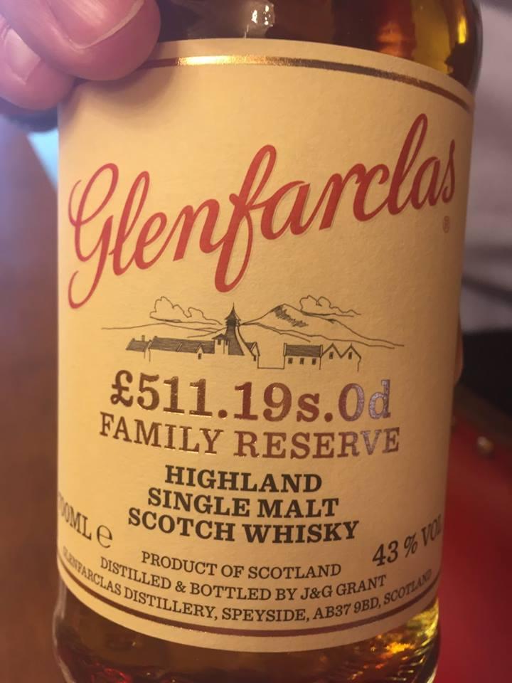 Glenfarclas – £511.19sOd Family Reserve– Highland, Single Malt – Scotch Whisky
