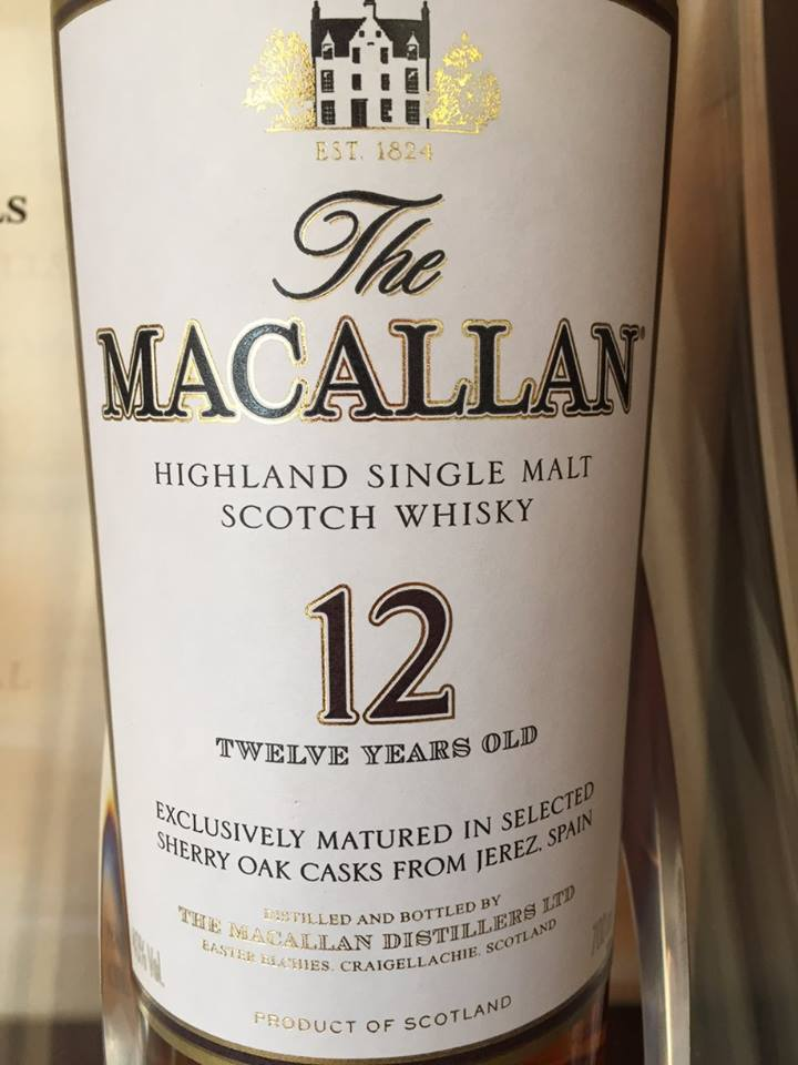 The Macallan – 12 years Old – Exclusively Matured in Selected Sherry Oak Casks from Jerez – Highland, Single Malt – Scotch Whisky