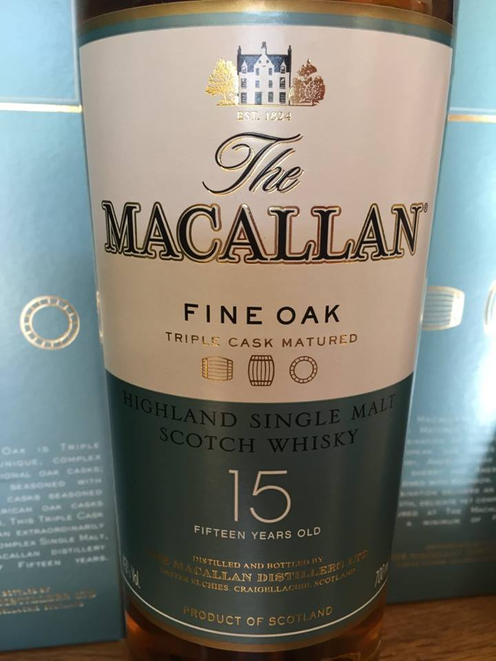 The Macallan – Fine Oak – 15 Years Old – Triple Cask Matured – Highland, Single Malt – Scotch Whisky