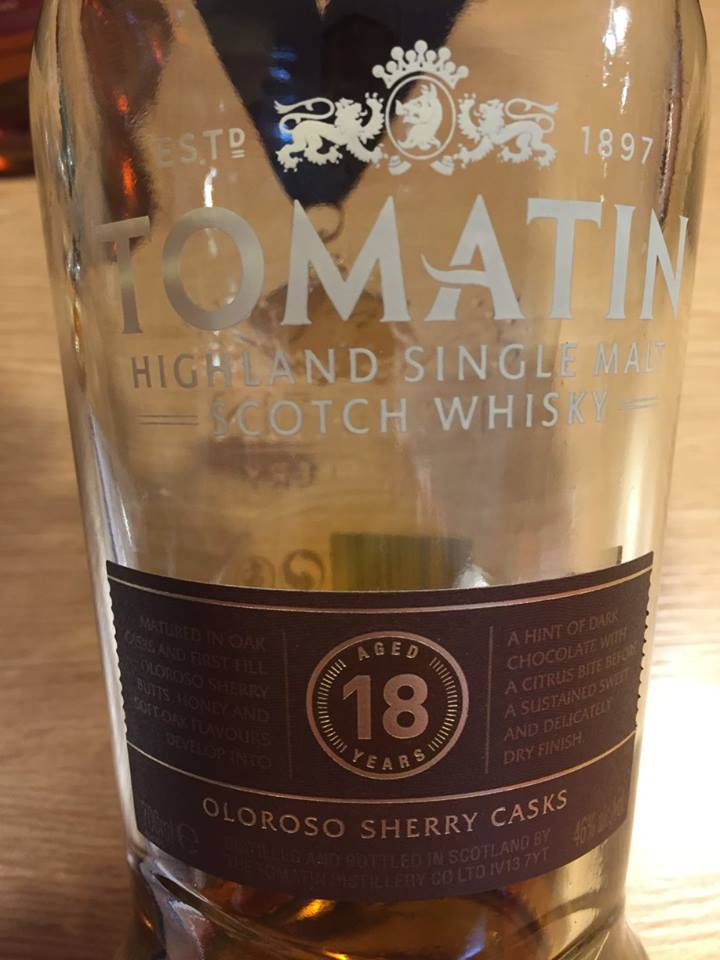 Tomatin – Aged 18 Years – Oloroso Sherry Casks – Highland, Single Malt – Scotch Whisky