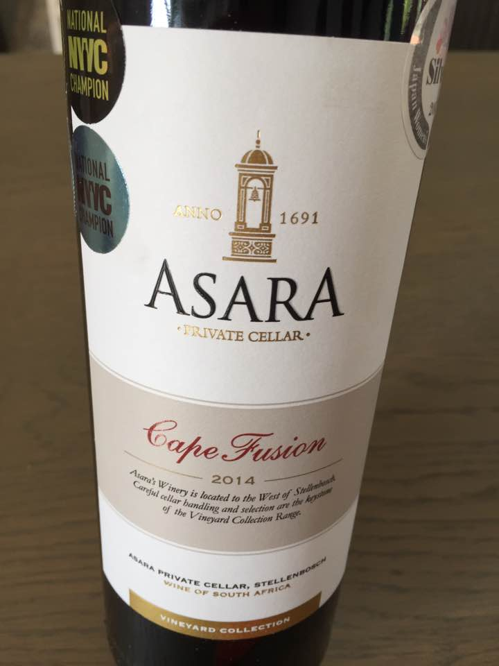 Asara Private Cellar – Cape Fusion 2014 – Vineyard Collection – Stellenbosch, South Africa