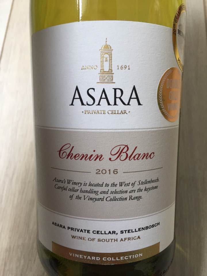 Asara Private Cellar – Chenin Blanc 2016 – Vineyard Collection – Stellenbosch, South Africa