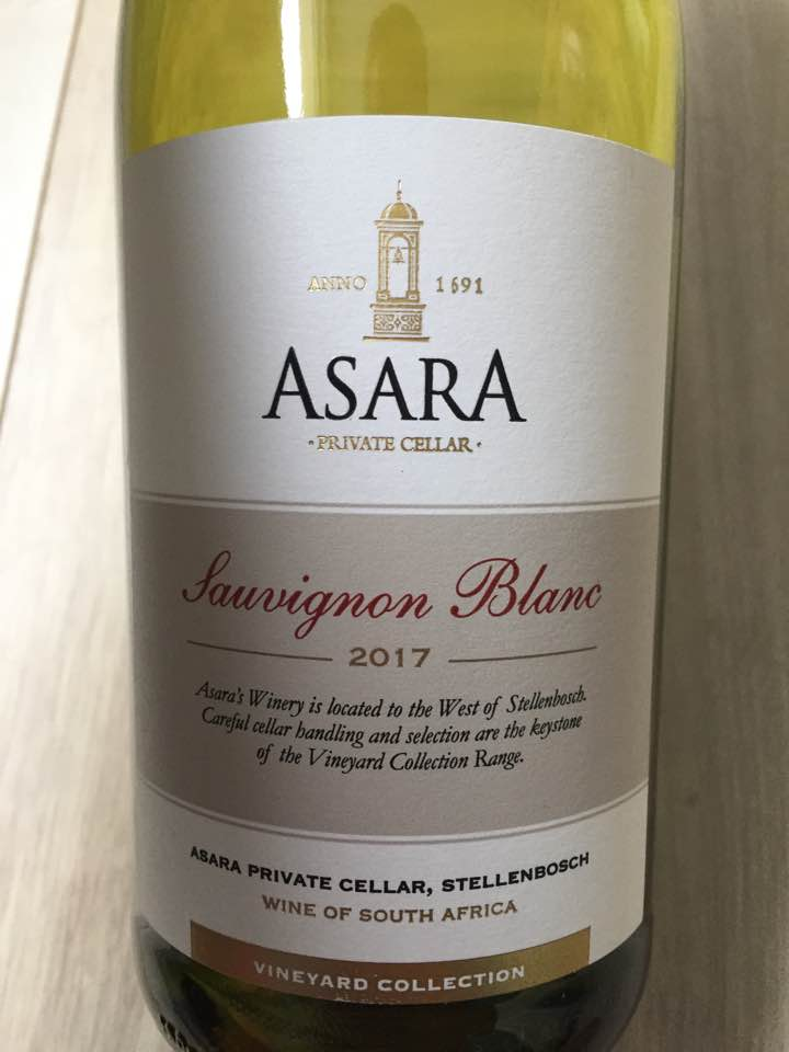 Asara Private Cellar – Sauvignon Blanc 2017 – Vineyard Collection – Stellenbosch, South Africa
