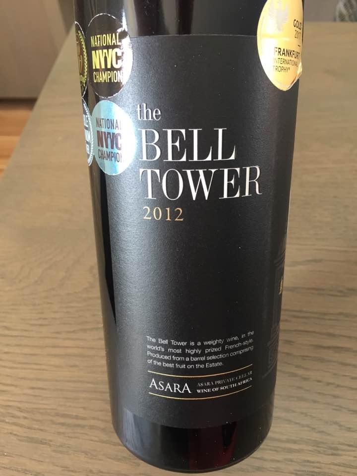 Asara Private Cellar – The Bell Tower 2012 – Stellenbosch, South Africa