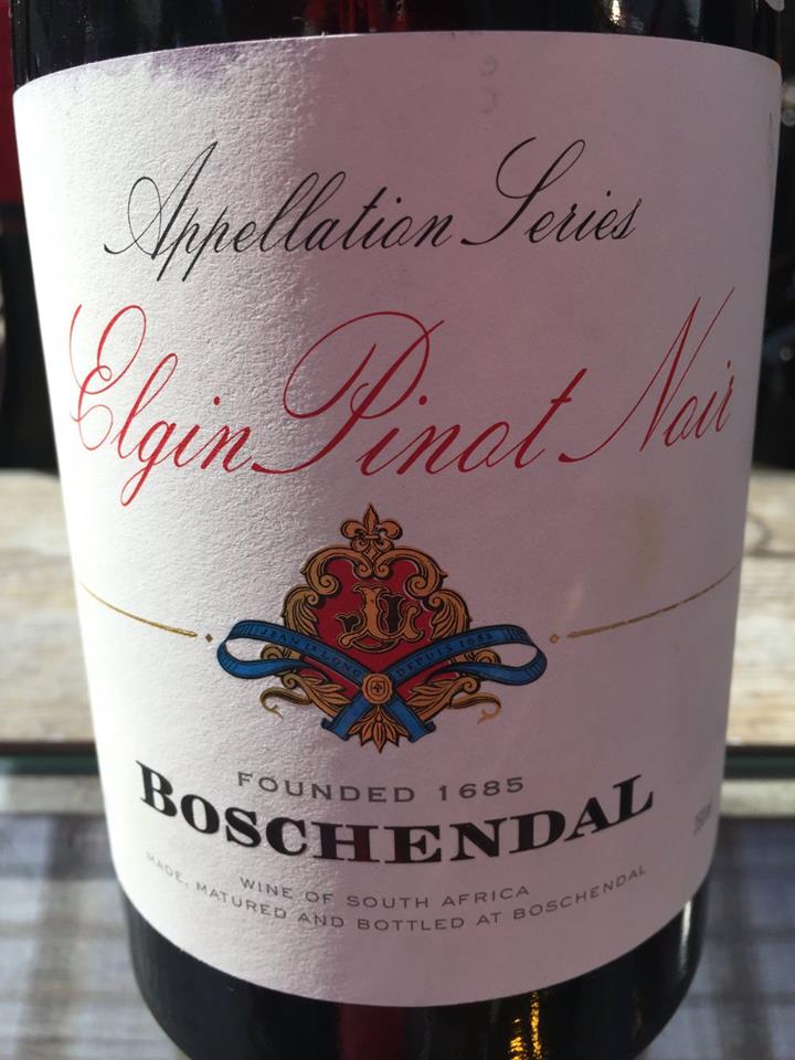 Boschendal – Appellation Séries – Elgin Pinot Noir 2015 – South Africa
