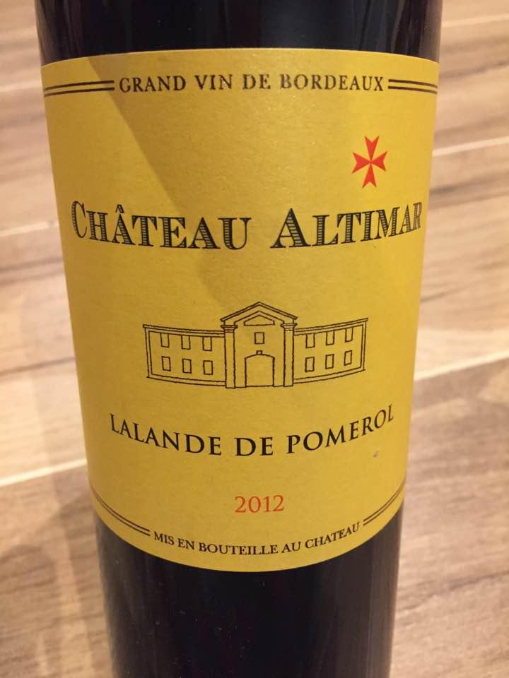 Château Altimar 2012 – Pomerol
