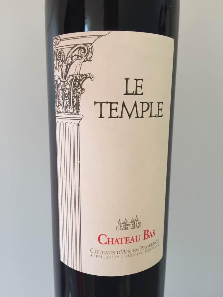 Château Bas – Le Temple 2015 – Côtes de Provence