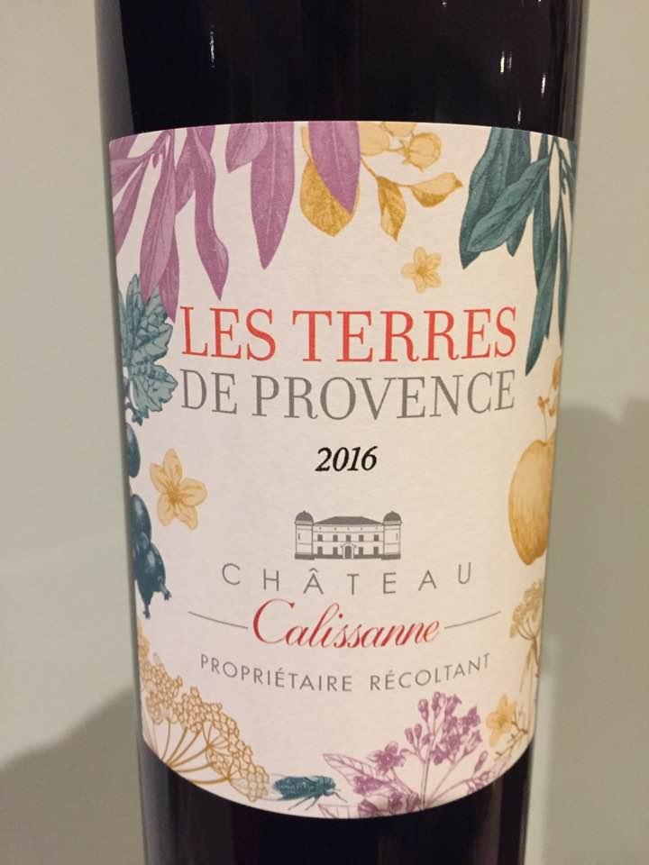 Château Calissanne – Les Terres de Provence 2016 – Côteaux d'Aix-en-Provence
