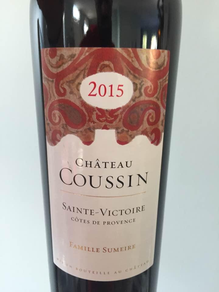 Château Coussin 2015 – Sainte-Victoire Côtes de Provence