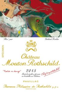 Gerhard Richter illustrates the label of Château Mouton Rothschild 2015