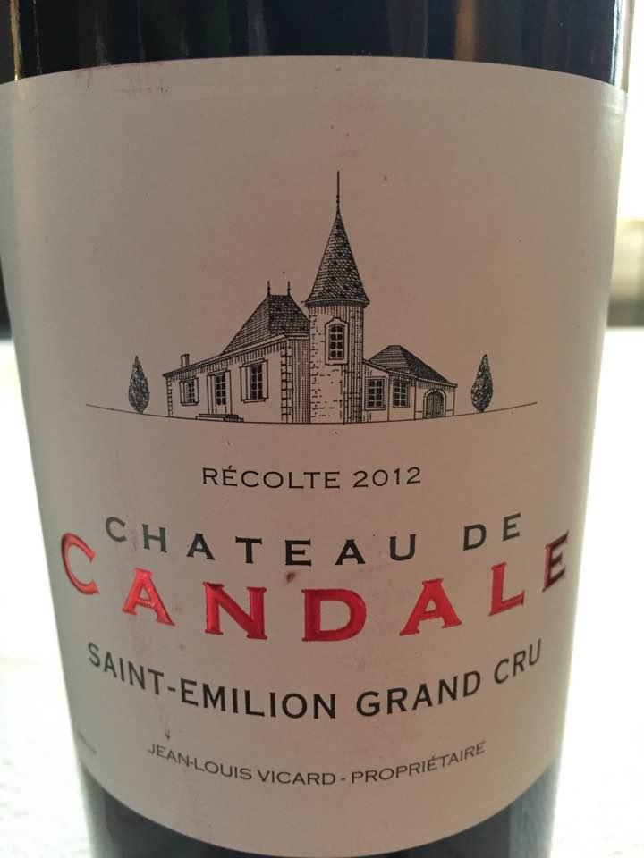 Château de Candale 2012 – Saint-Emilion Grand Cru