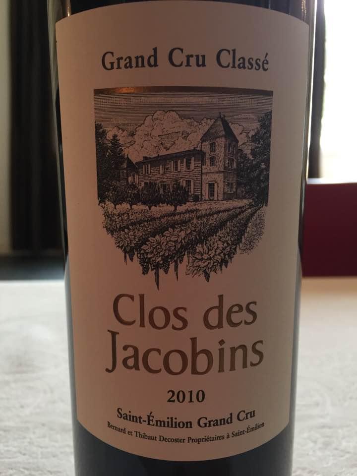 Clos des Jacobins 2010 – Saint-Emilion Grand Cru Classé