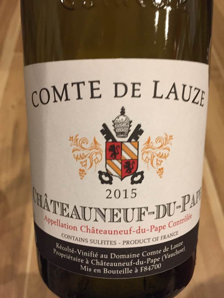 Comte de Lauze 2015 – Châteauneuf-du-Pape
