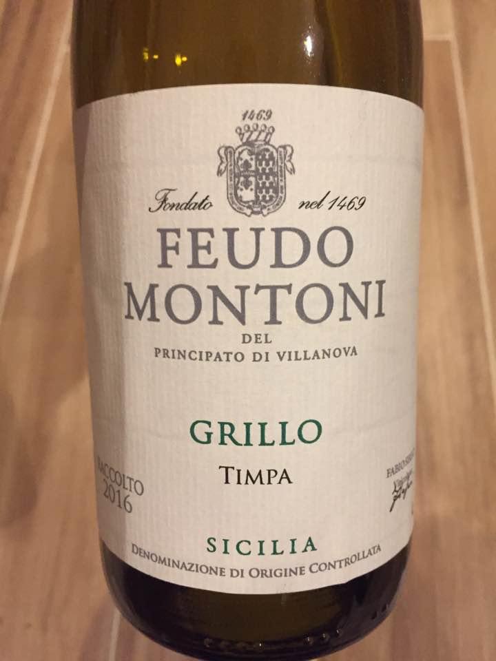 Feudo Montoni – Grillo Timpa 2016 – Sicilia DOC
