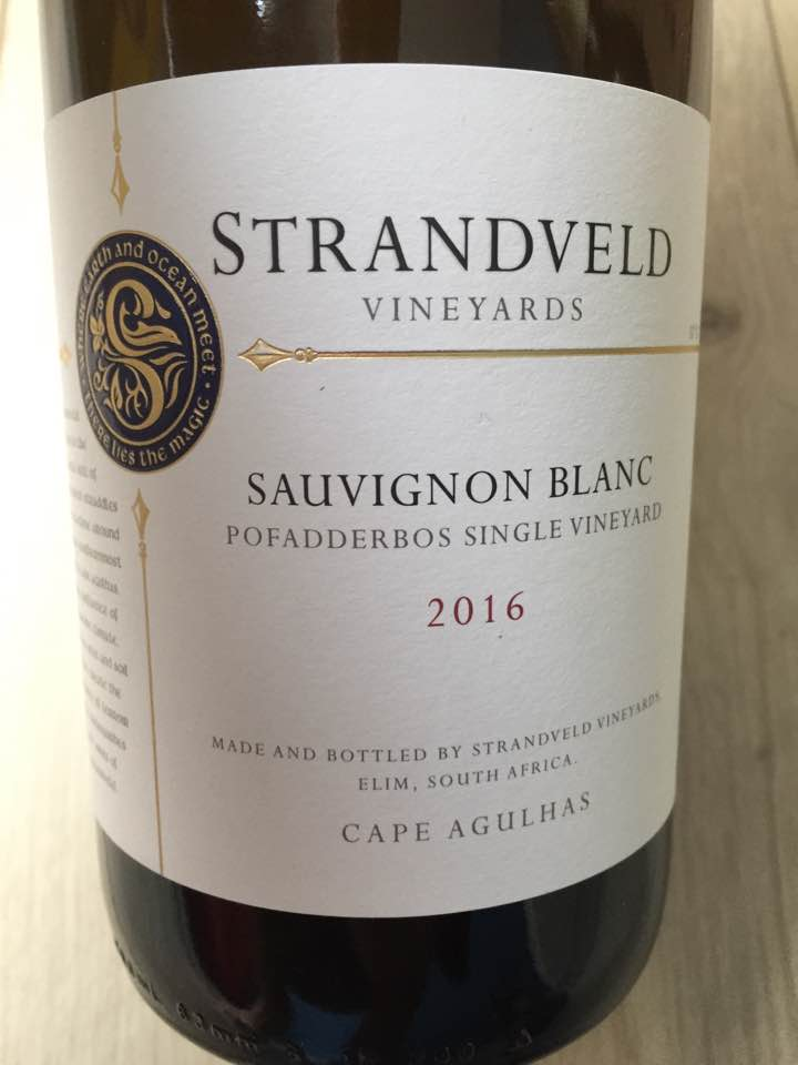 Strandveld Vineyards – Sauvignon Blanc 2016 – Pofadderbos Single Vineyard – Cape Agulhas – Elim, South Africa