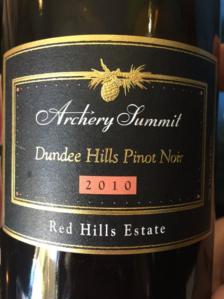 Archery Summit – 2010 Pinot Noir Red Hills Estate – Dundee Hills, Willamette Valley