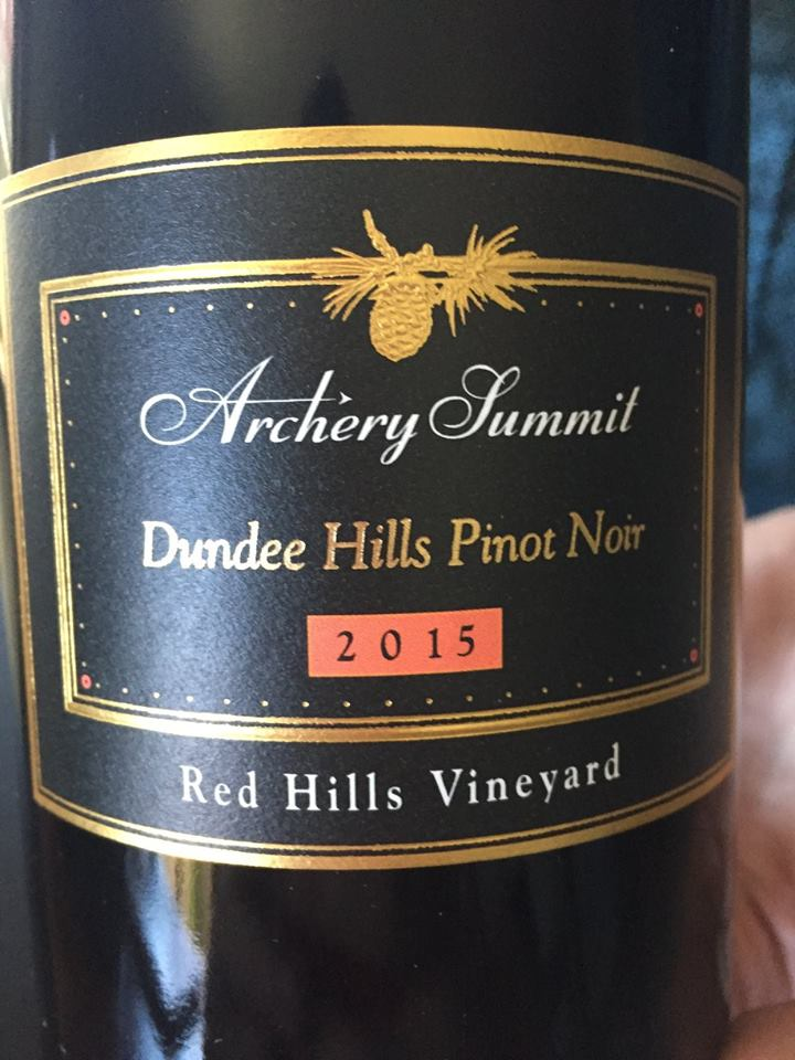 Archery Summit – 2015 Pinot Noir Red Hills Vineyard – Dundee Hills, Willamette Valley