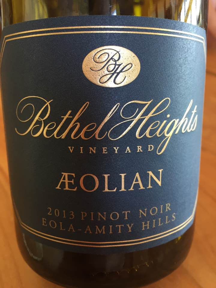 Bethel Heights Vineyard – Aeolian 2013 Pinot Noir – Eola-Amity Hills – Willamette Valley