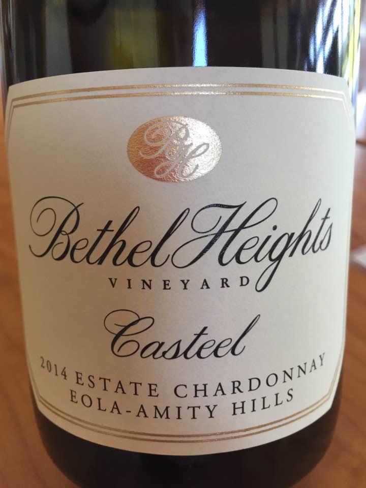 Bethel Heights Vineyard – Casteel 2014 Estate Chardonnay – Eola-Amity Hills – Willamette Valley