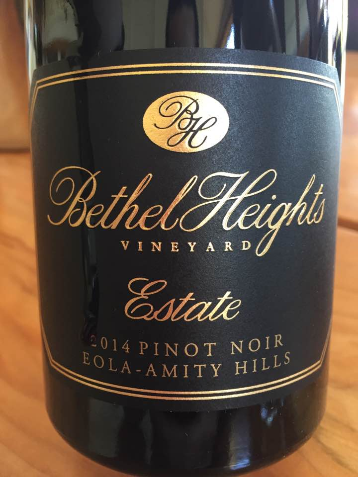Bethel Heights Vineyard – Estate 2014 Pinot Noir – Eola-Amity Hills – Willamette Valley
