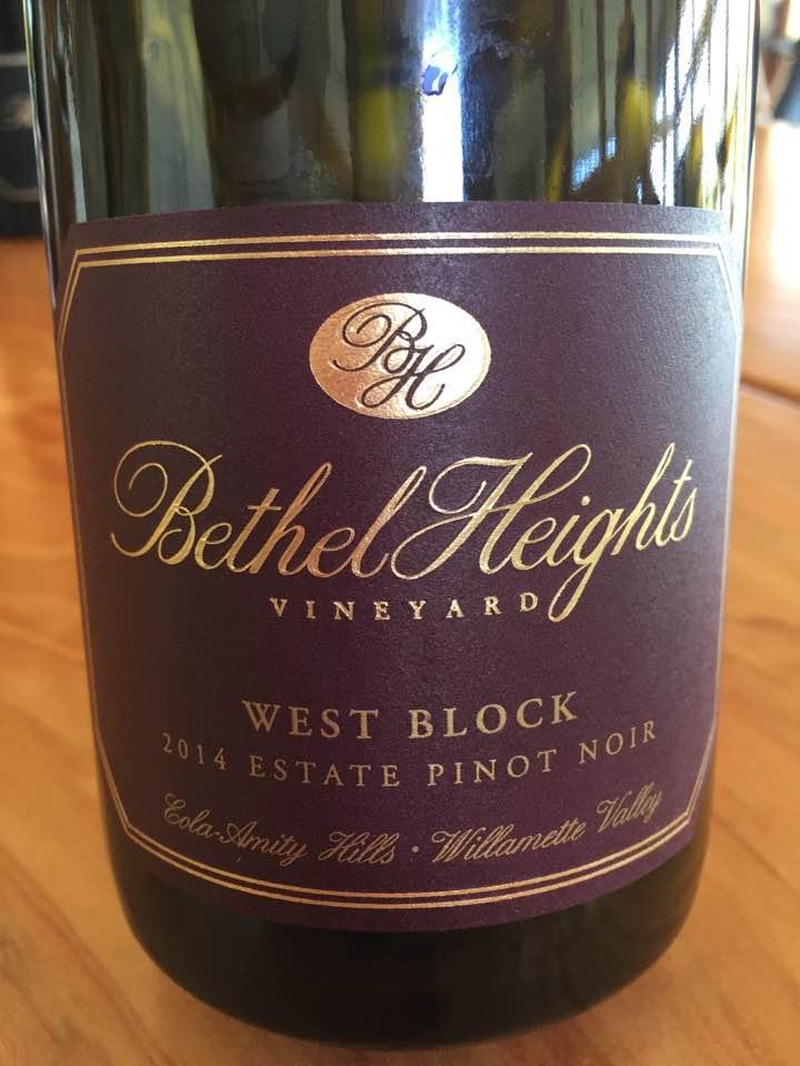 Bethel Heights Vineyard – West Block 2014 Estate Pinot Noir – Eola-Amity Hills – Willamette Valley