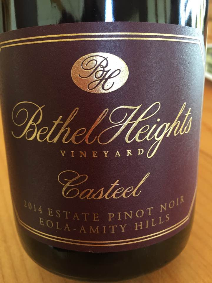 Bethel Heights Vineyards – Casteel 2014 Estate Pinot Noir – Eola-Amity Hills – Willamette Valley