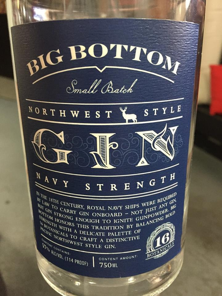 Big Bottom – Navy Strength – Northwest Style – Gin