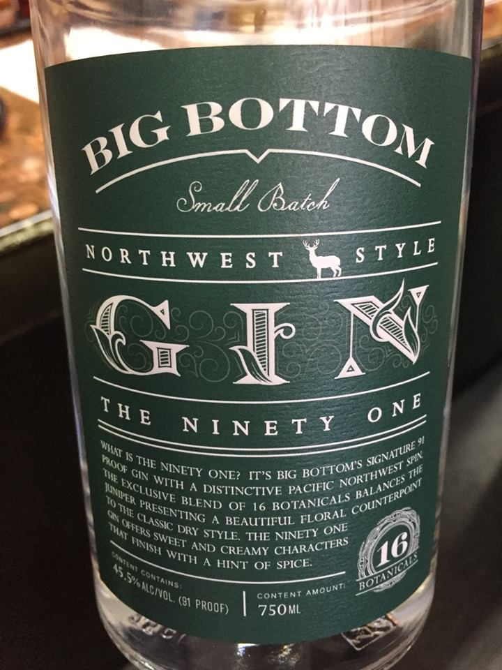 Big Bottom – The Ninety One – Northwest Style – Gin