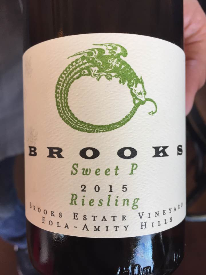 Brooks – Sweet P 2015 Riesling – Brooks Estate Vineyard – Eola-Amity hills, Oregon