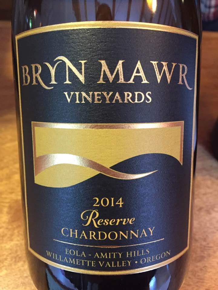 Bryn Mawr – Reserve Chardonnay 2014 – Eola Amity Hills – Willamette Valley