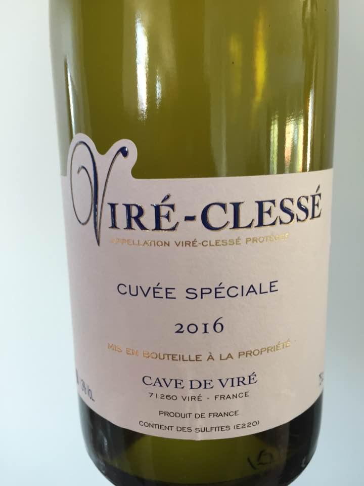 Cave de Viré – Cuvée Spéciale 2016 – Viré-Clessé
