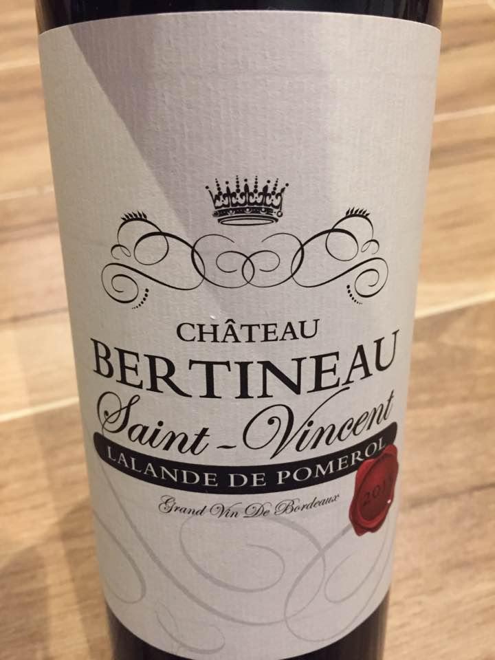 Château Bertineau Saint-Vincent 2015 – Lalande-de-Pomerol