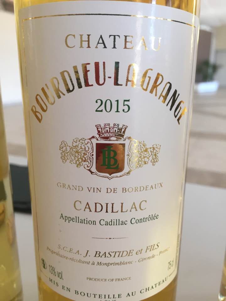 Château Bourdieu Lagrange 2015 – Cadillac