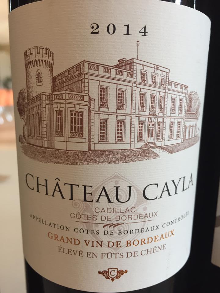 Château Cayla 2014 – Cadillac Côtes de Bordeaux