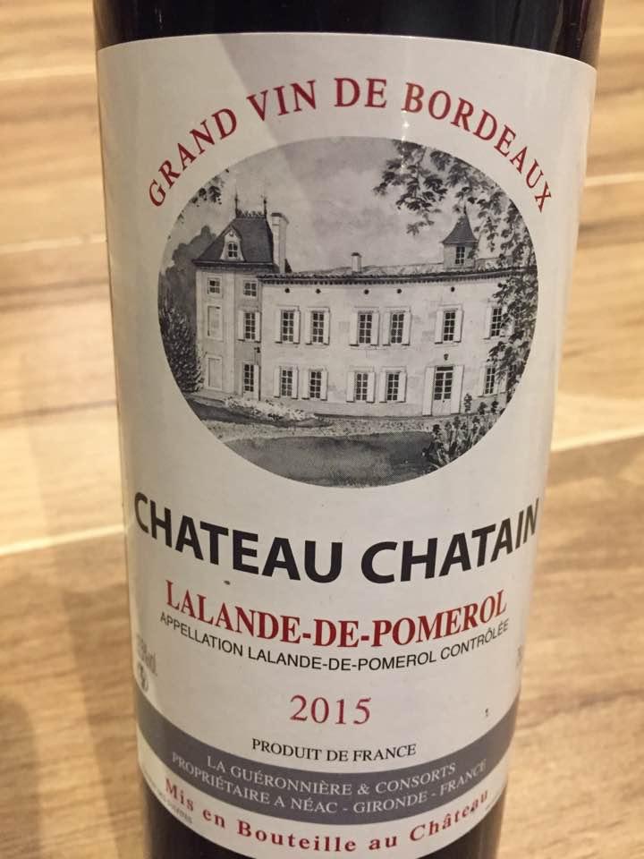 Château Chatain 2015 – Lalande-de-Pomerol