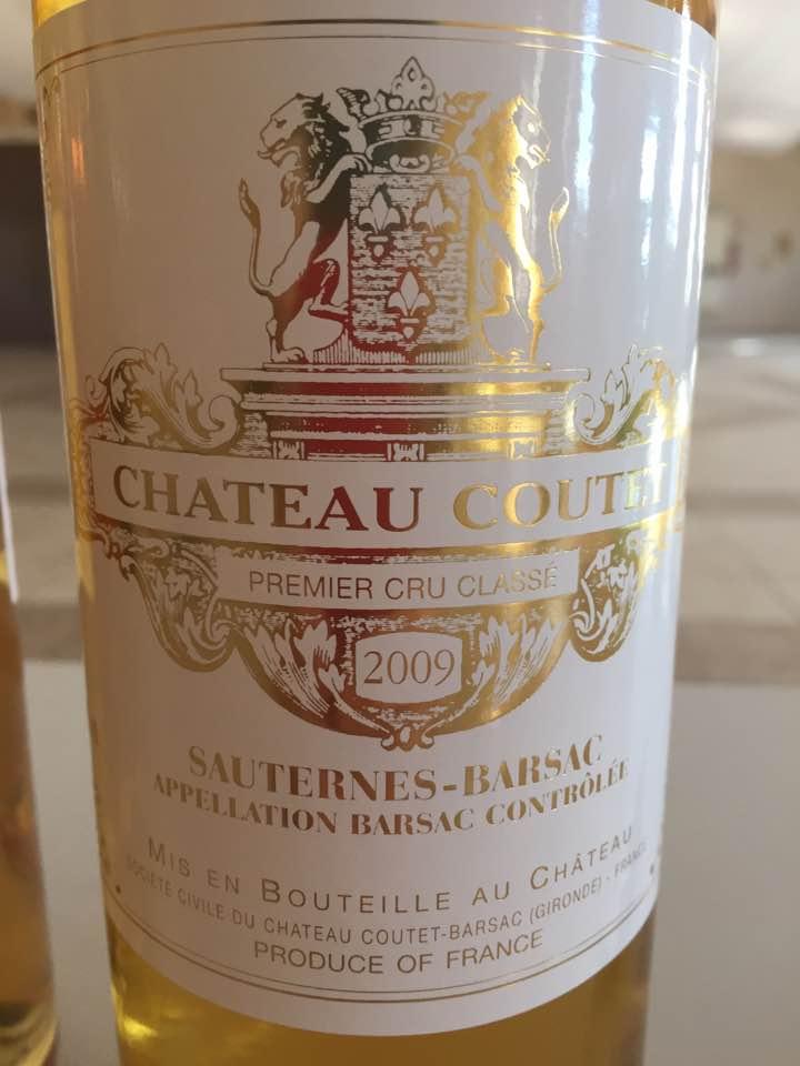 Château Coutet 2009 – Barsac, 1er Cru Classé Sauternes-Barsac