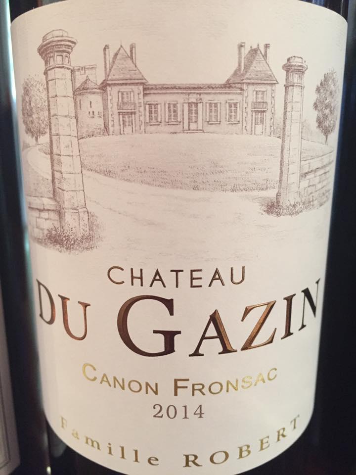 Château Du Gazin 2014 – Canon-Fronsac