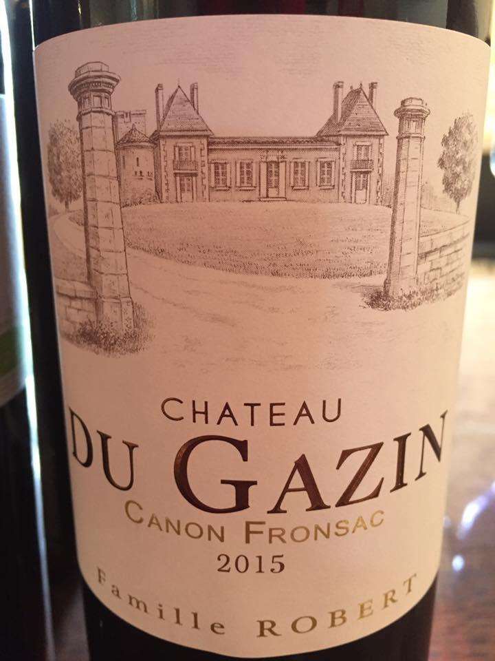 Château Du Gazin 2015 – Canon-Fronsac