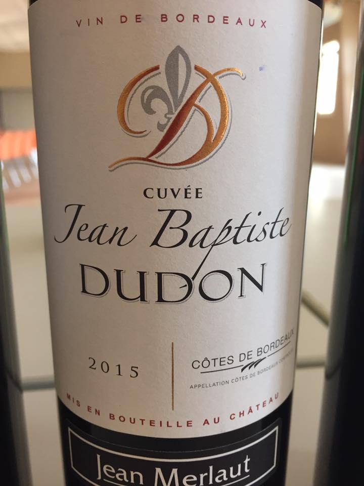 Château Dudon – Cuvée Jean Baptiste Dudon 2015 – Côtes de Bordeaux