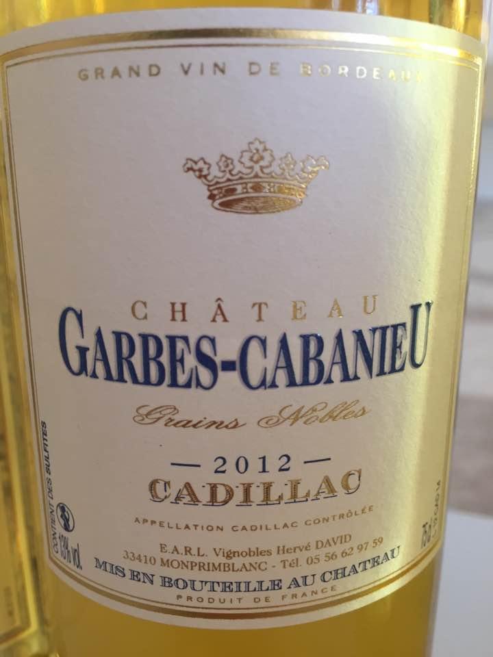 Château Garbes-Cabanieu – Grains Nobles 2012 – Cadillac