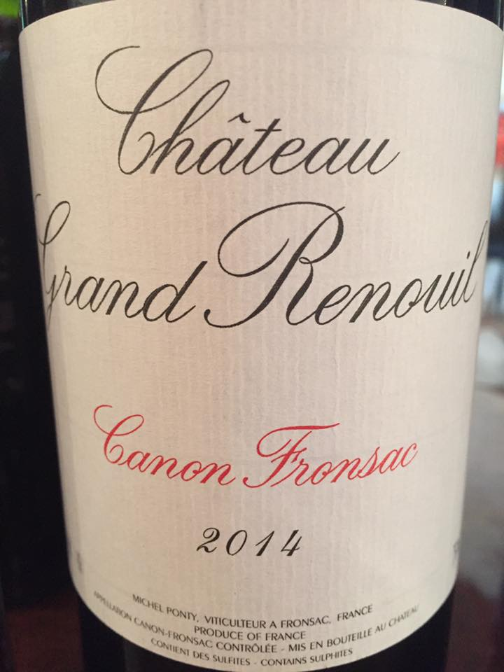 Château Grand Renouil 2014 – Canon-Fronsac