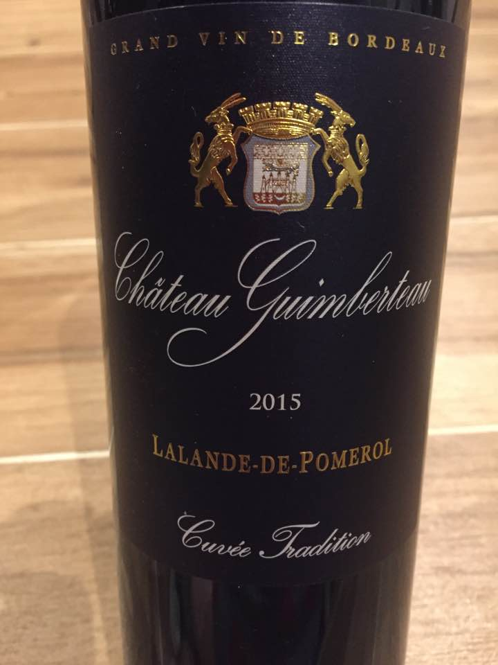 Château Guimberteau – Cuvée Tradition 2015 – Lalande-de-Pomerol