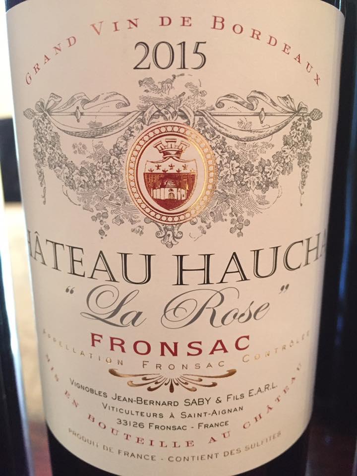 Château Hauchat – La Rose 2015 – Fronsac