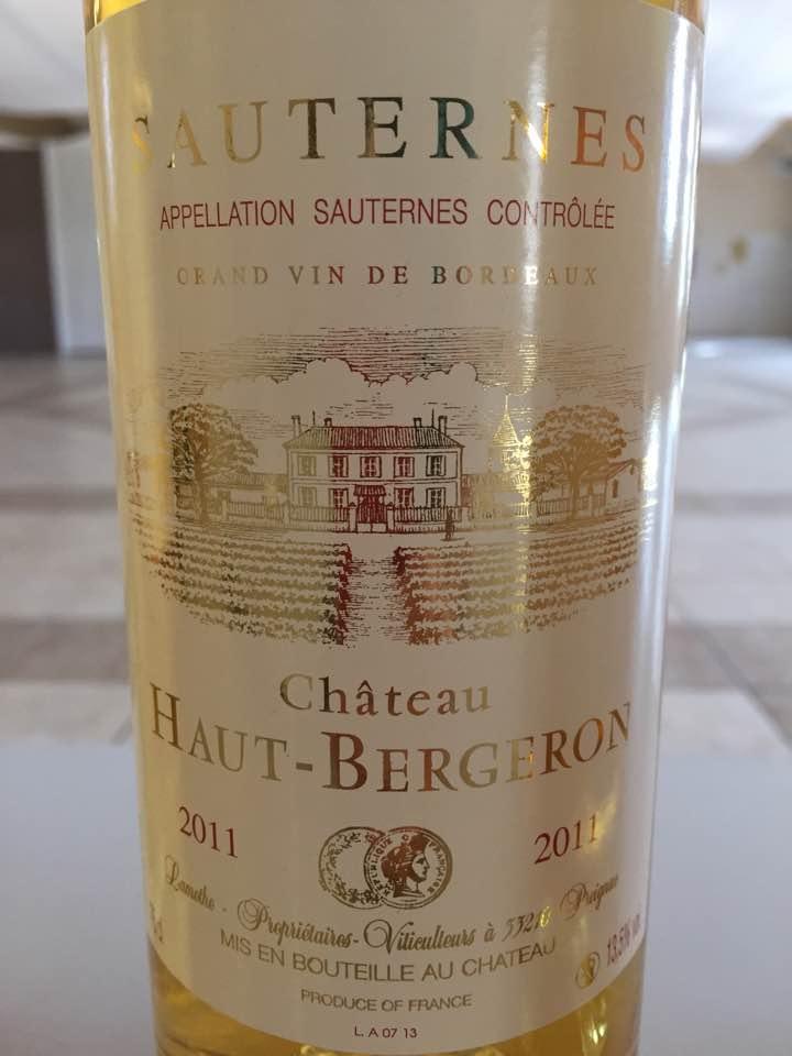 Château Haut-Bergeron 2011 – Sauternes