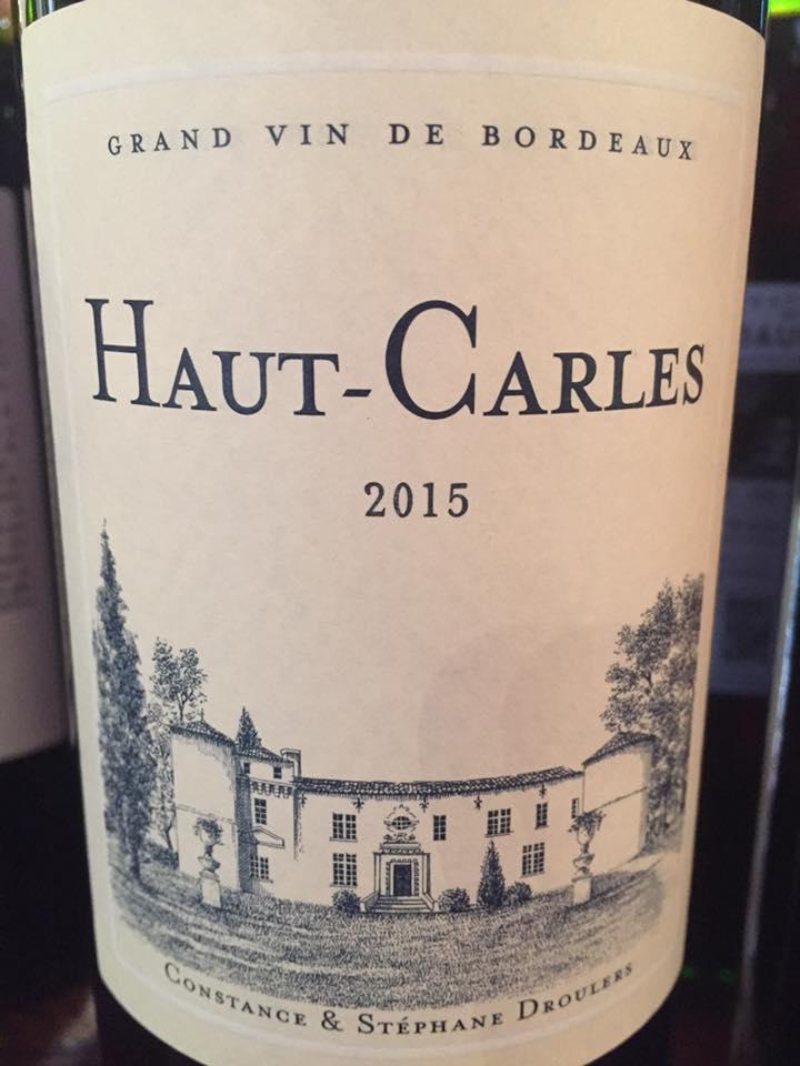 Château Haut Carles 2015 – Fronsac