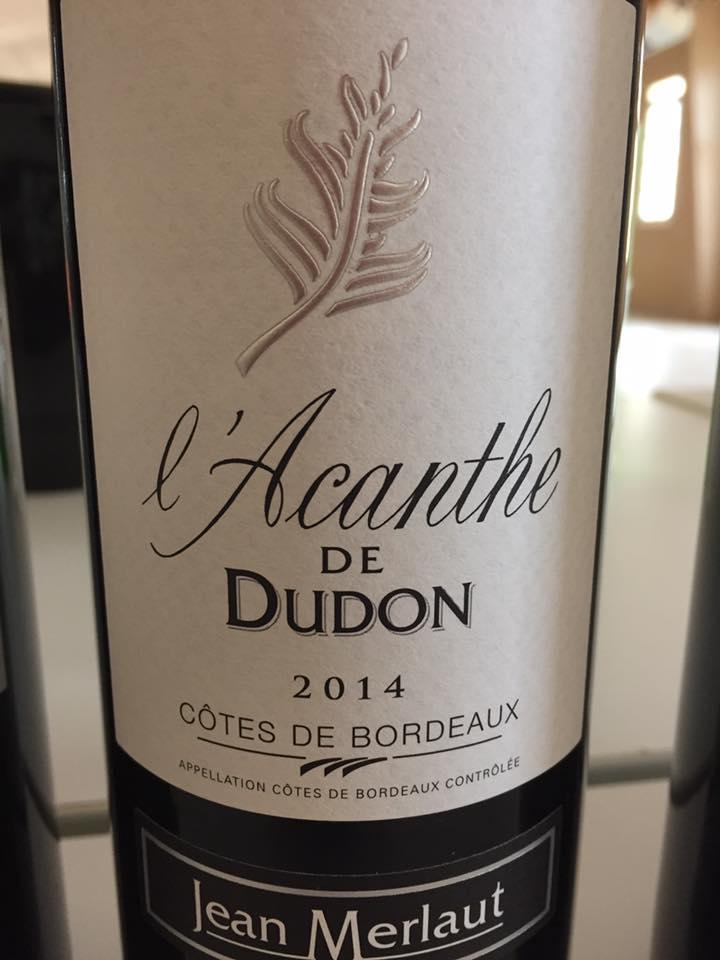 Château L'Acanthe de Dudon 2014 – Côtes de Bordeaux