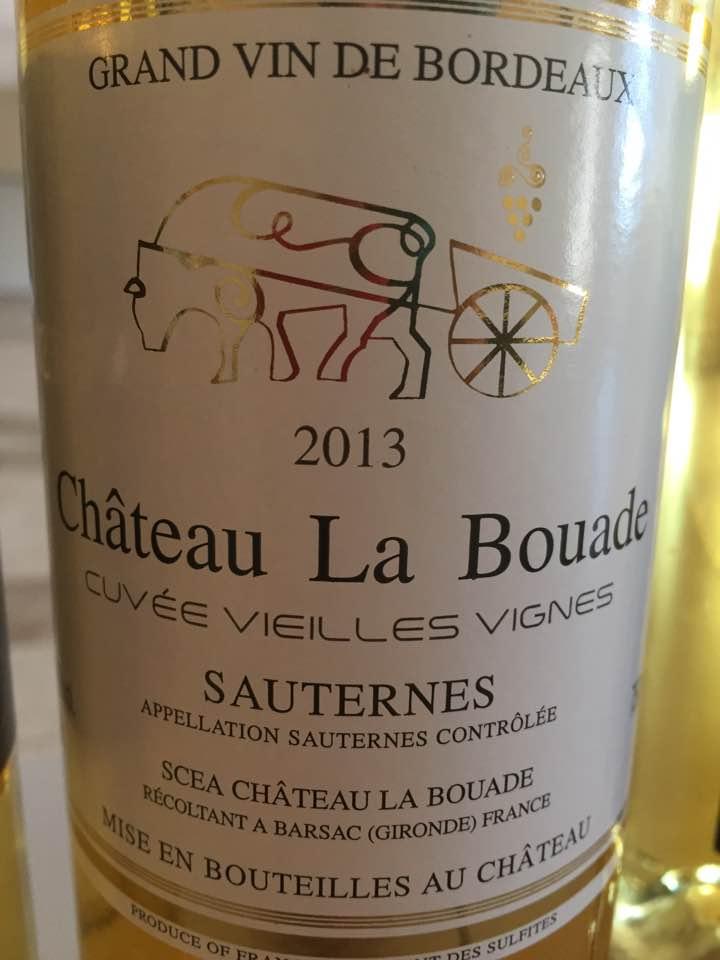Château La Bouade 2013 – Cuvée Vieilles Vignes – Barsac